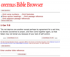 Oremus search result